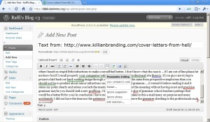 WordPress Grammar Checker in Google Chrome